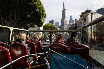 By Big Bus through San Francisco