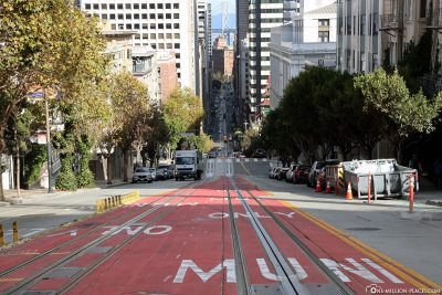 Die California Linie Richtung Market Street