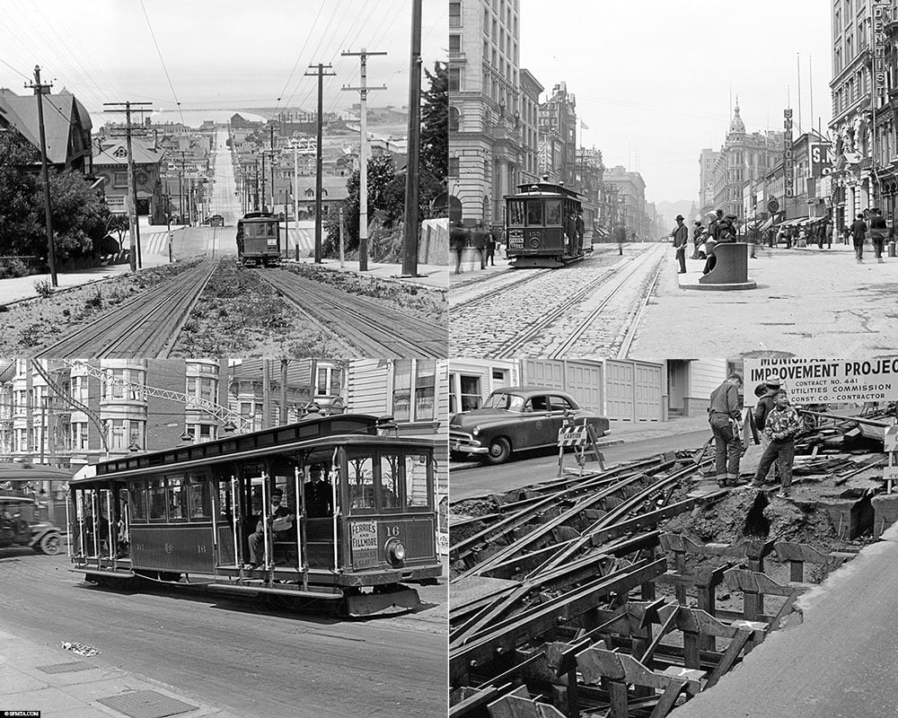 Historical pictures, Cable Car, San Francisco, funicular, tramway, California, SF, USA, travel report