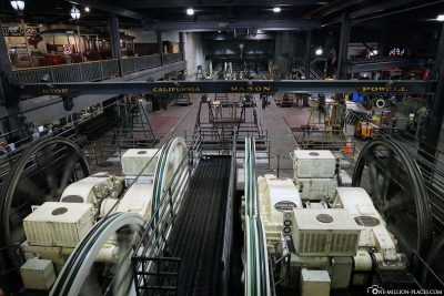 The motors and winches of the Cable Car