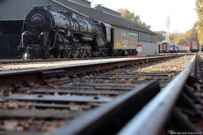 Eine alte Dampflokomotive