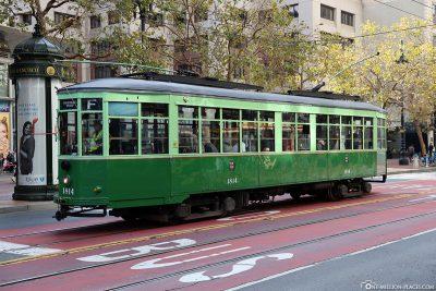 Die Straßenbahn in San Francisco