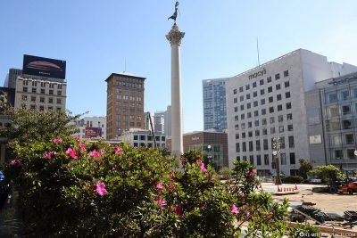 Der Union Square mit dem Dewey Monument