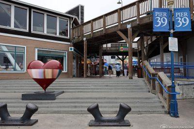 The promenade at Pier 39