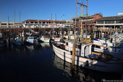 Fisherman´s Wharf mit vielen kleinen Booten