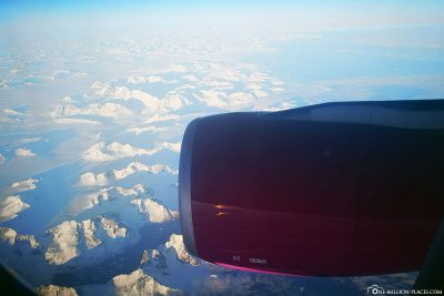 Flight over Greenland