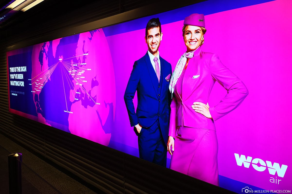 WOW air, wowair, advertising, Keflavik Airport