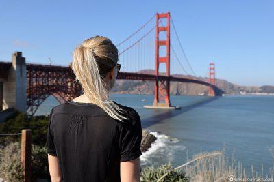 Blick auf die Golden Gate Bridge von der südlichen Seite