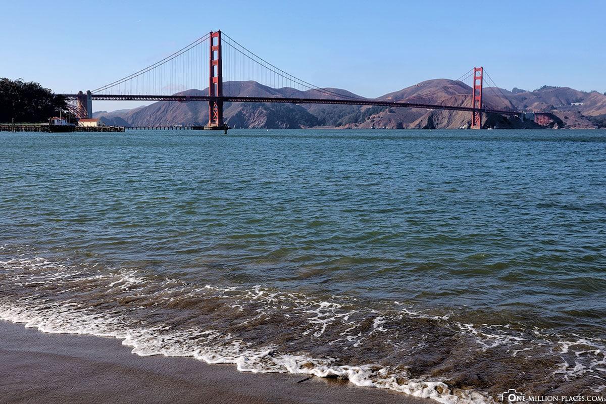 Crissy Field, San Francisco, Golden Gate Bridge, View, California, USA; Travelogue