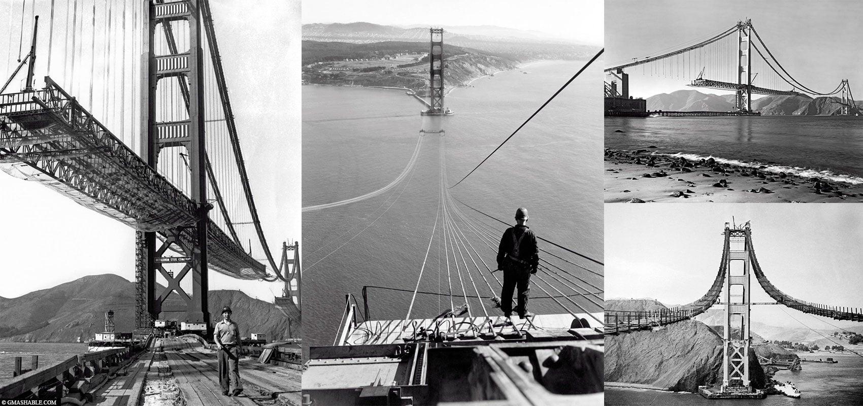 Construction, Golden Gate Bridge