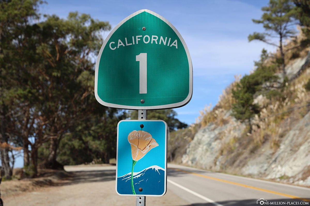 Highway 1, Schild, Kalifornien, USA, Reisebericht