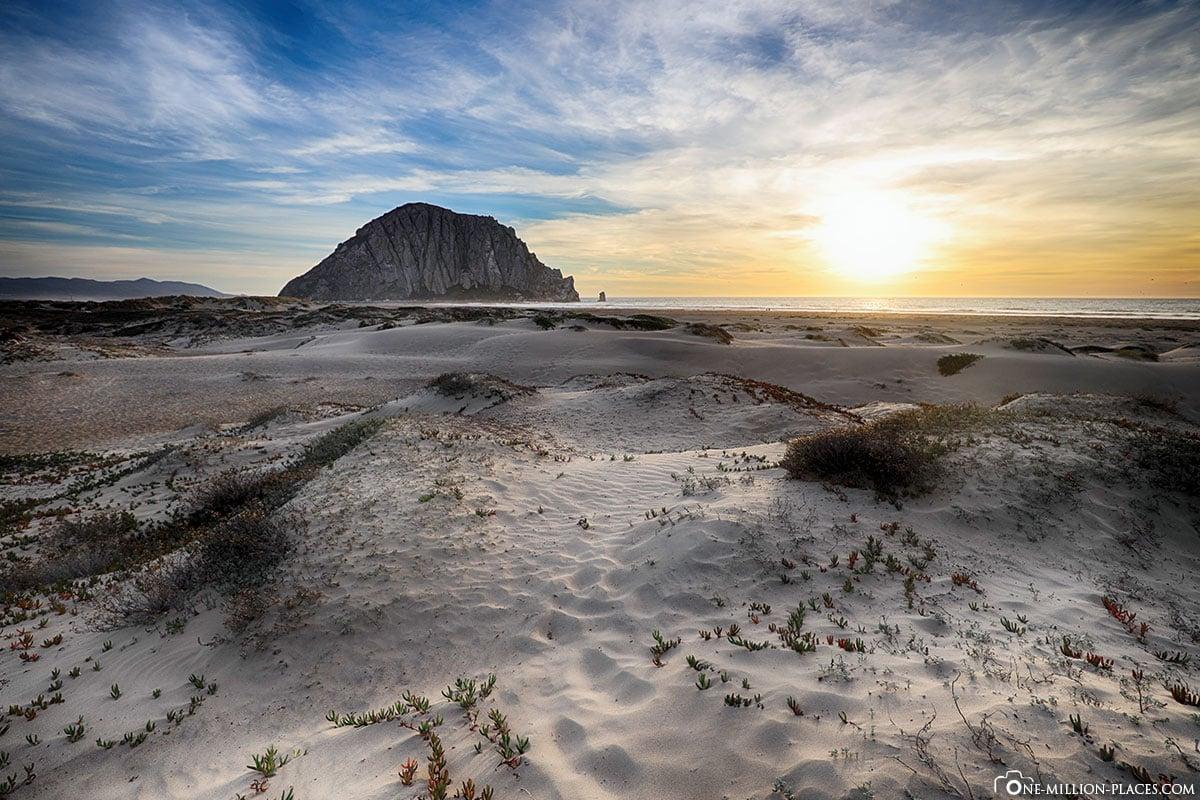 Morro Rock, Sonnenuntergang, Morro Bay, Kalifornien, USA, Reisebericht