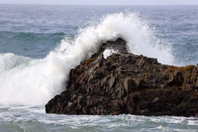 The waves at Pfeiffer Beach
