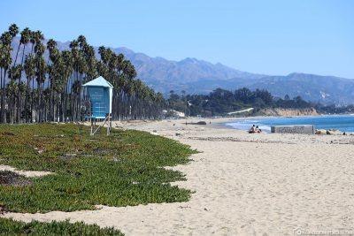 The beach in Santa Barbara