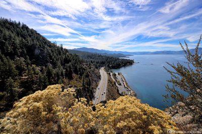 Der Lincoln Highway am Lake Tahoe