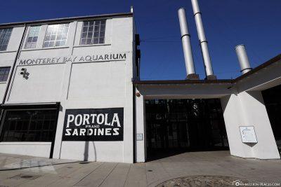 Der Eingang zum Aquarium