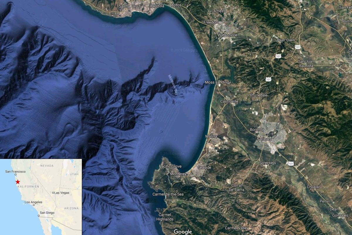 Monterey Bucht, Karte, Google, Kalifornien, USA