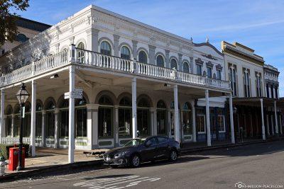 Die restaurierten Gebäude in Old Sacramento