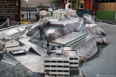 Ein Modell der Alcatraz Insel