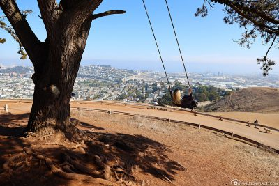 The swing in Bernal Heights Park