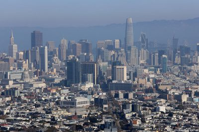 Blick auf Downtown San Francisco