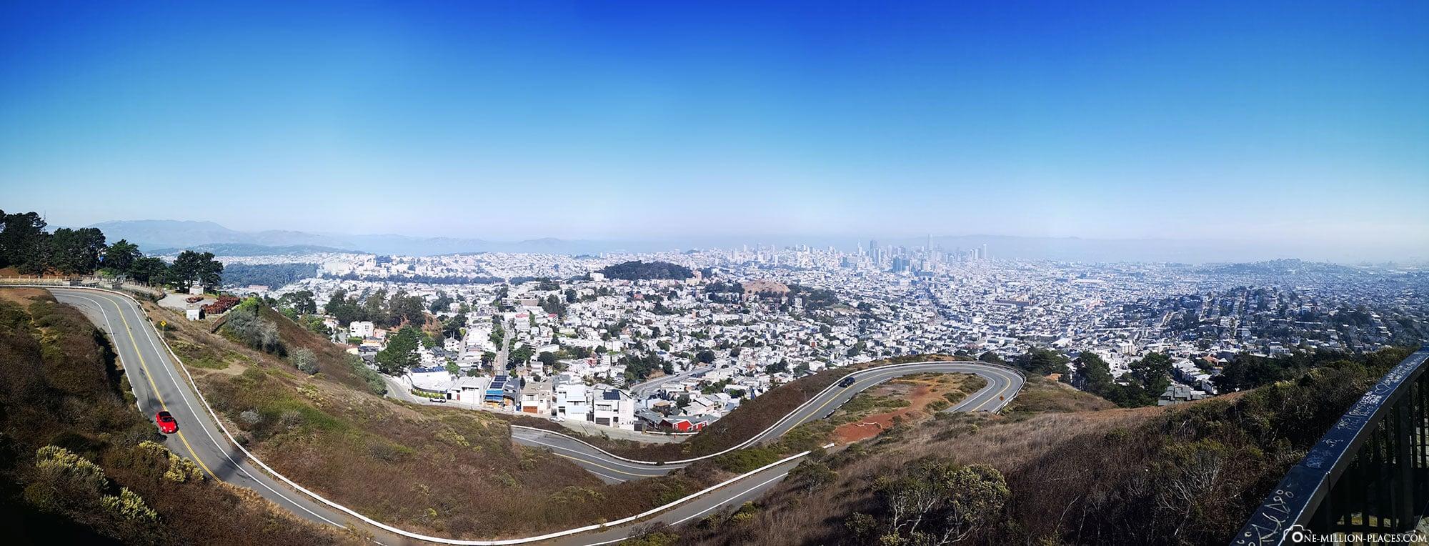 Twin Peaks, panoramic photo, view, views of San Francisco, sights