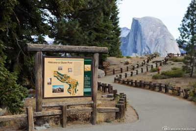 The entrance at Glacier Point