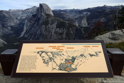 Information board about the Yosemite Valley