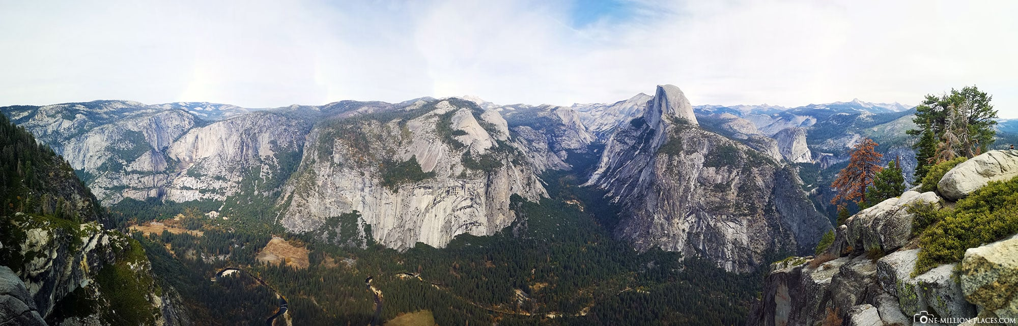 Panoramic view, Glacier Point, Yosemite Valley, Yosemite National Park, Attractions, California, USA, Travel report