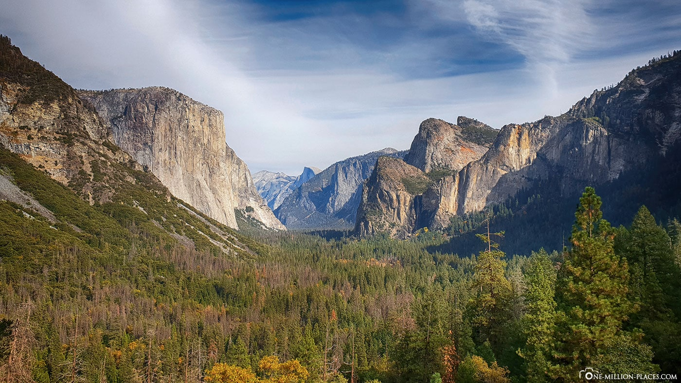 Tunnel View, Viewpoint, Yosemite National Park, Attractions, California, USA, Travel Report