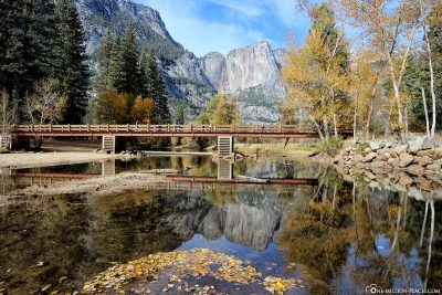 The Swinging Bridge over the Merced River