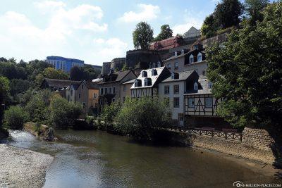 Blick auf das Grund-Viertel (Unterstadt)