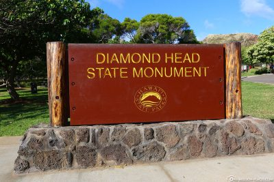 The Diamond Head Crater in Hawaii