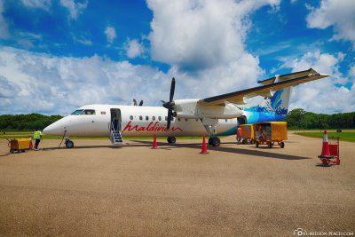 Unser Flug mit Maldivian Airlines