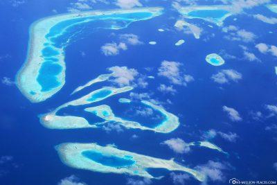 Die südlichen Atolle der Malediven