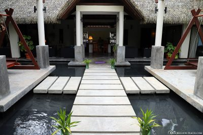 Entrance to Duniye Spa at ROBINSON Club Maldives