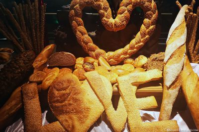Bread in heart shape