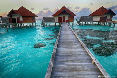 The jetty to our bungalow