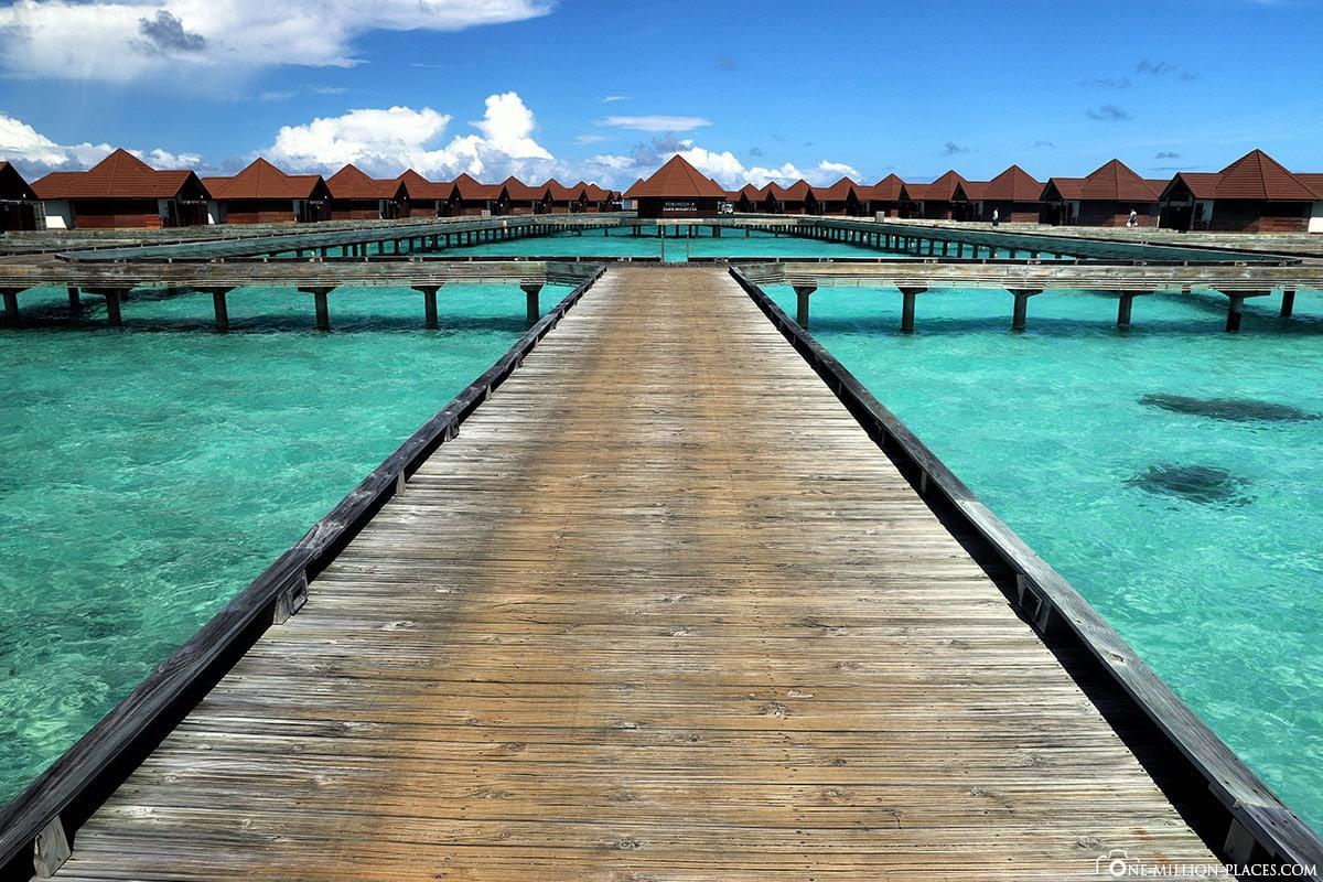 Main Jetty, Water Bungalow, Overwater Bungalow, BUM2, ROBINSON Club Maldives, Maldives, Gaaf Alif Atoll, Travelreport