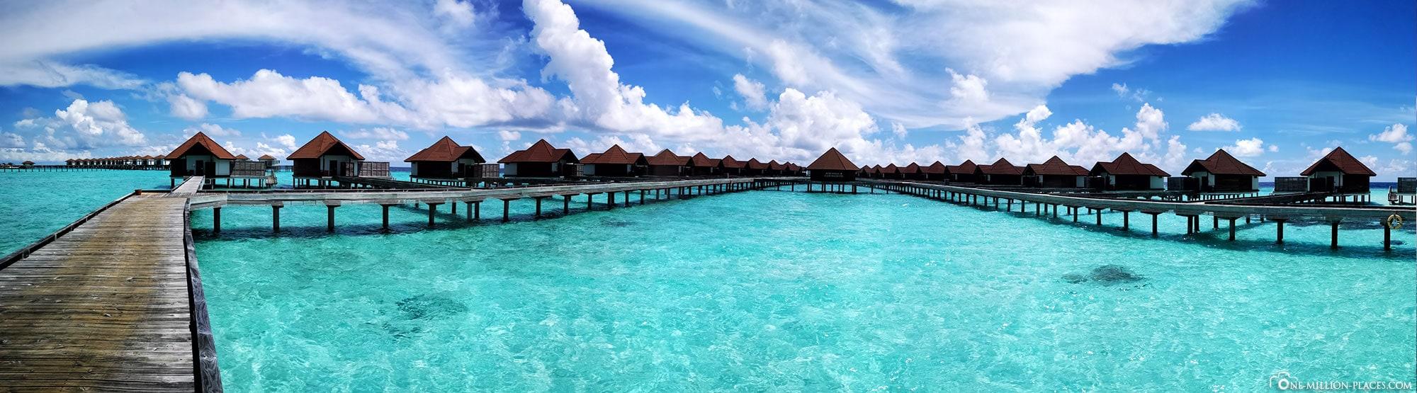 Panoramic view, Water Bungalow, Overwater Bungalow, BUM2, ROBINSON Club Maldives, Maldives, Gaaf Alif Atoll, Travelreport