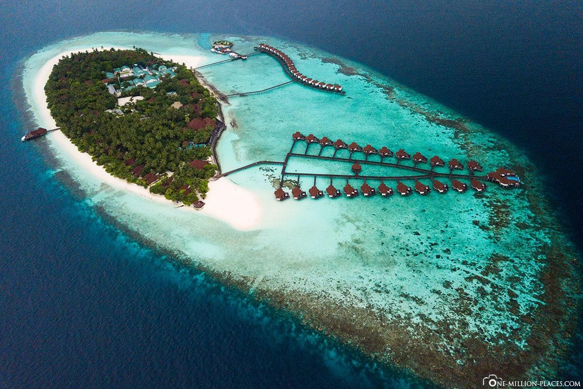 ROBINSON Club Maldives, Maldives, Maldives from above, aerial view, DJI Mavic Pro, drone image, Gaaf Alif Atoll, travelogue