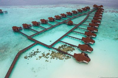 View of the 25 water bungalows