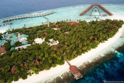 The island of ROBINSON Club Maldives