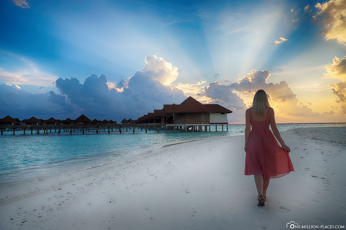 Sunset, Sundowner, Sunset, All Inclusive, ROBINSON Club Maldives, Maldives, Gaaf Alif Atoll, Travel Report