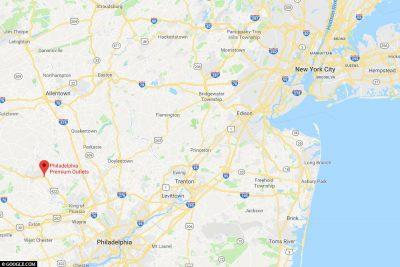 The location of Philadelphia Premium Outlets