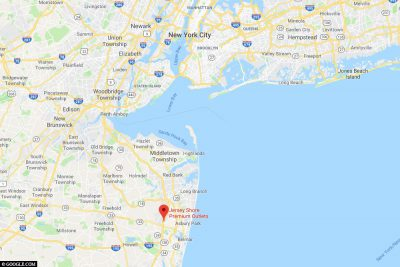The location of Jersey Shore Premium Outlets