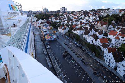 Der Strandkaien mit Gamle Stavanger