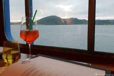 Abendessen mit Aussicht