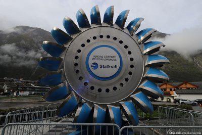 Model of a water turbine