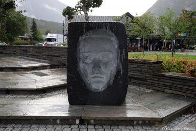 Sculpture in Eidfjord